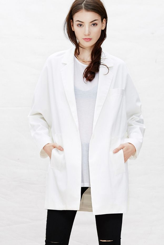 A Common Space White Typography Blazer