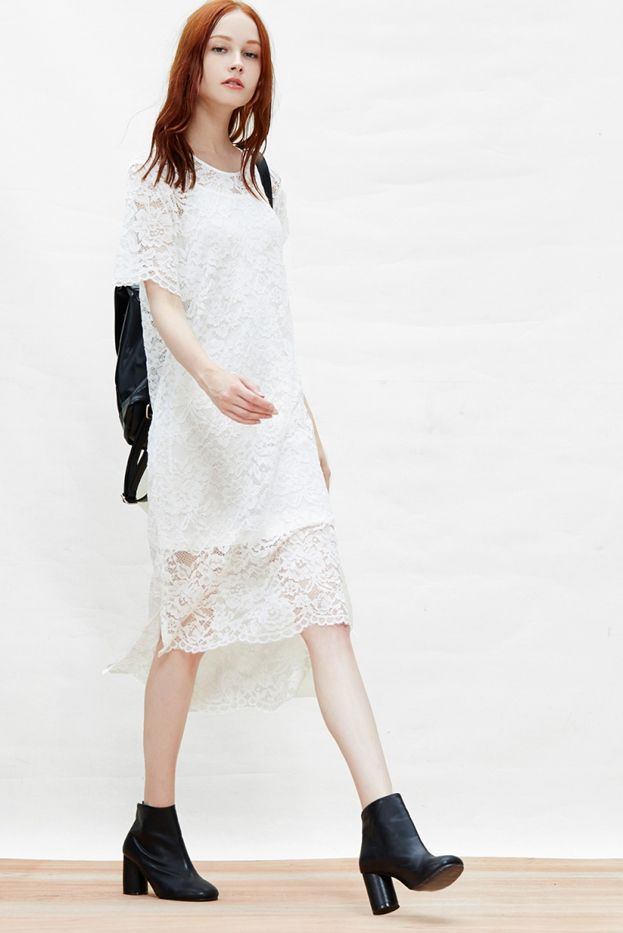 A Common Space Lace Midi Dress
