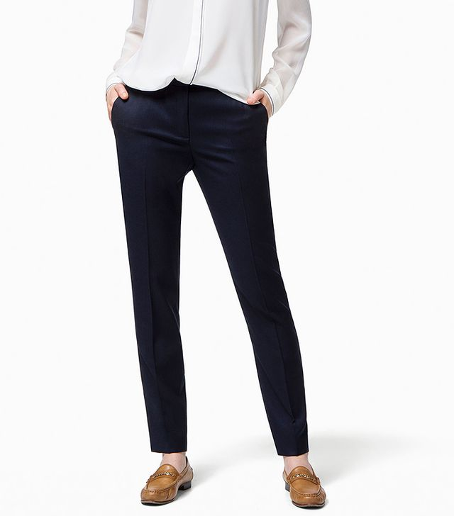 Massimo Dutti Navy Suit Trousers