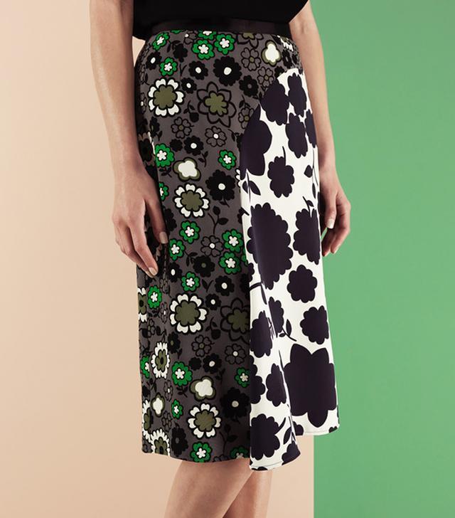 Finery London Ivan Mixed Print Skirt