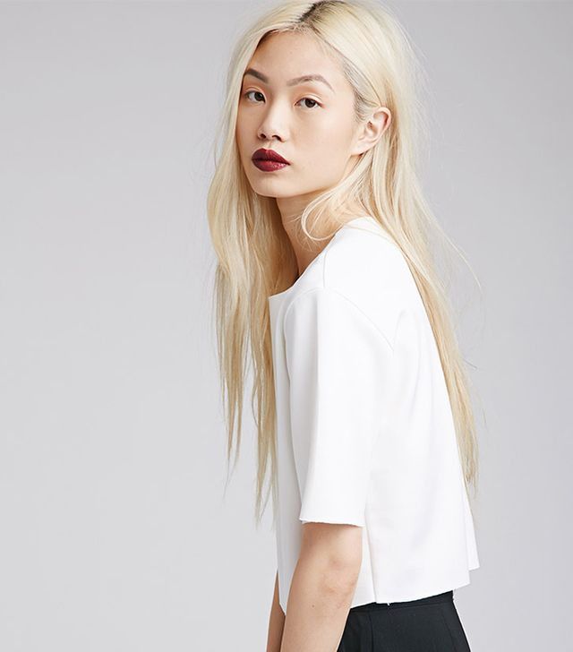 Forever 21 Raw-Edged Scuba Knit Tee