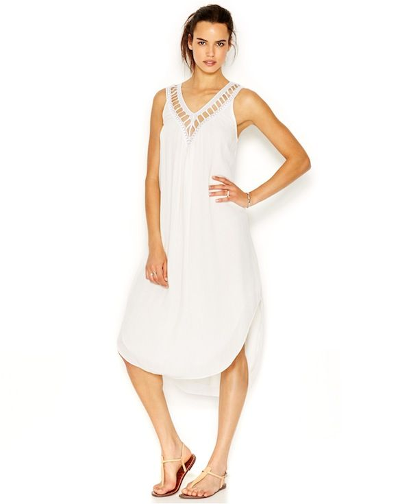 RACHEL Rachel Roy Embellished High-Low Caftan Dress