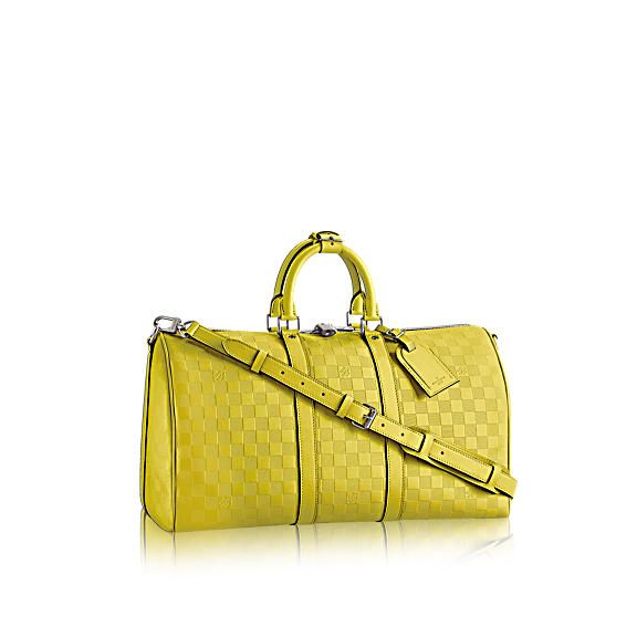 Louis Vuitton Keepall Bandouliere 45 Duffle in Damier Infini Leather