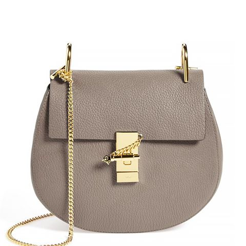 'Drew' Leather Crossbody Bag, Motty Grey