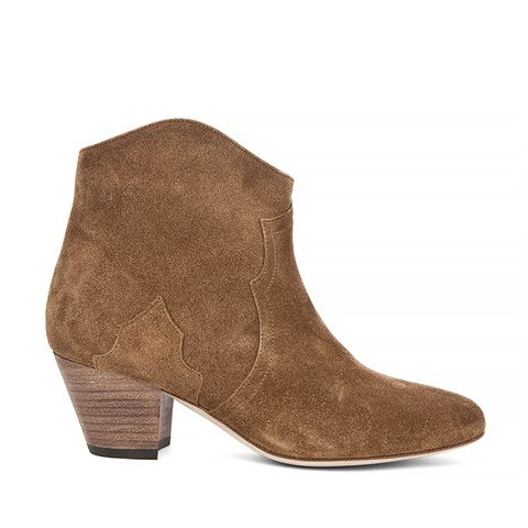 Dicker Velvet Booties, Camel