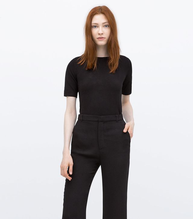 Zara Short Sleeve Knit Sweater