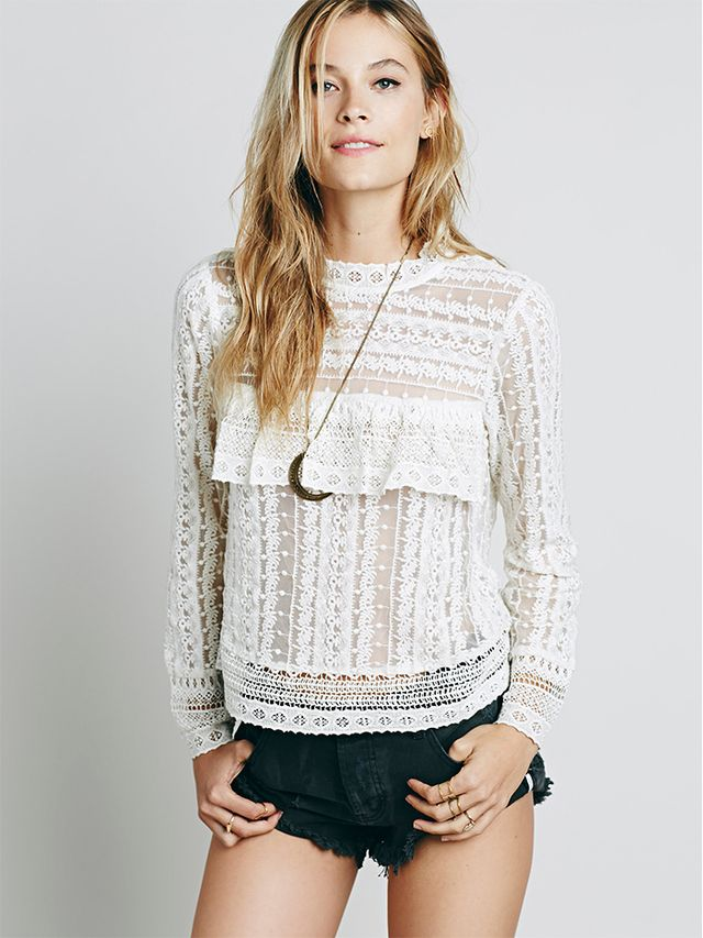 Free People Be Mine Lace Top