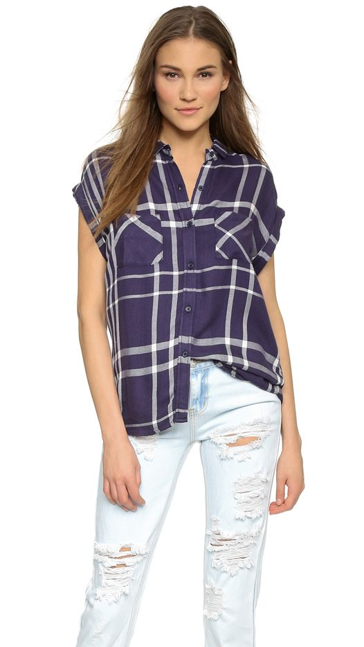 Rails Britt Sleeveless Button Down Shirt