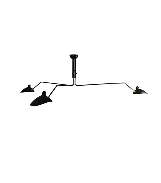 Retro Furnish Three-Arm Ceiling Lamp