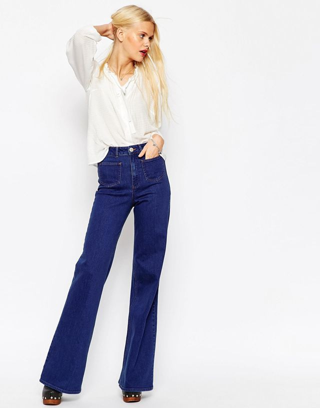 ASOS Flare Jeans With Patch Pockets