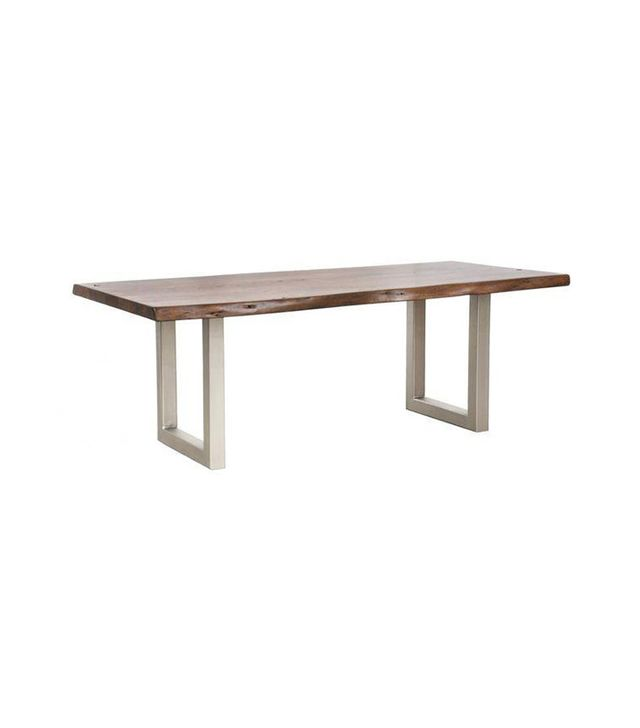 Chairish Industrial Modern Live Edge Dining Table
