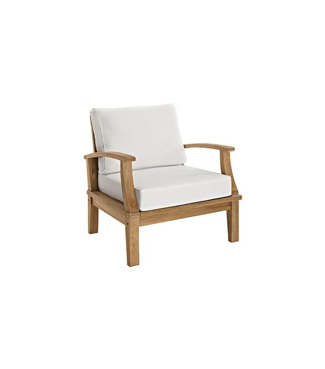 LexMod Marina Teak Three-Piece Patio Set
