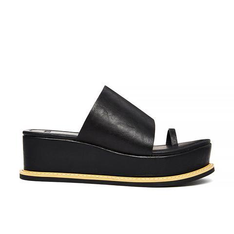 Flatform Sandals, Black