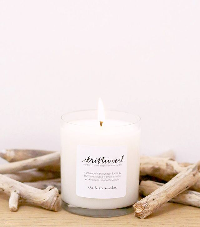 The Little Market Driftwood Soy Blend Candle