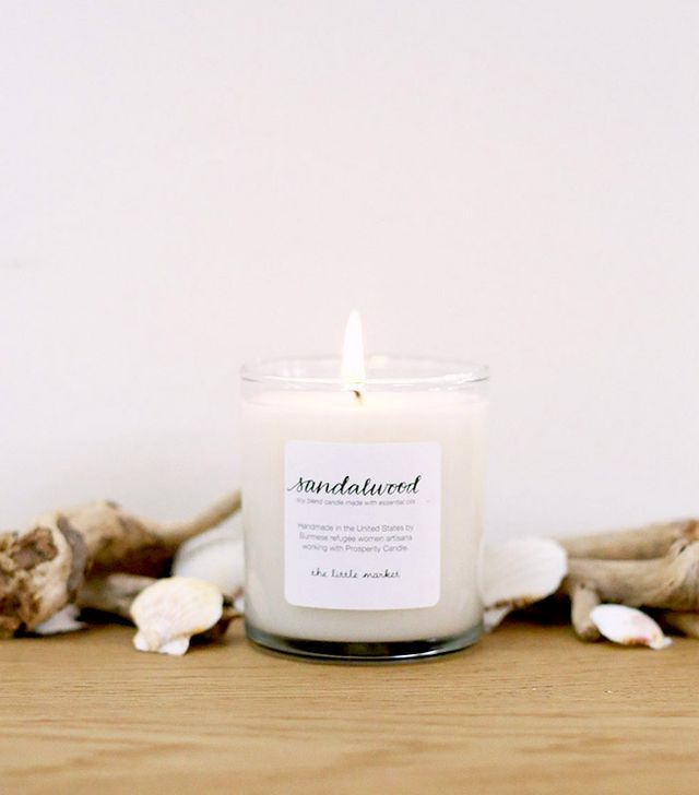 The Little Market Sandalwood Soy Blend Candle