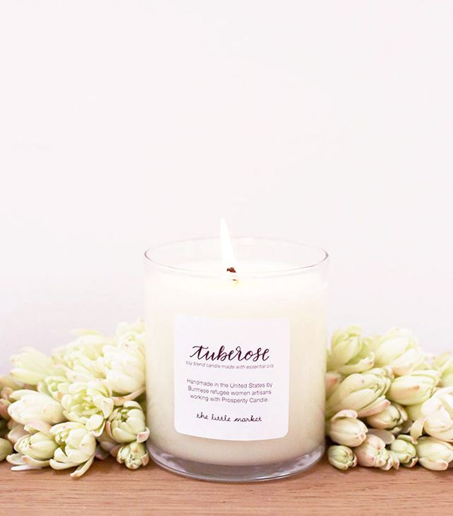 The Little Market Tuberose Soy Blend Candle