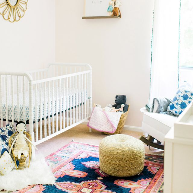Inside a Fresh Nursery Space of a Glitter Guide Director
