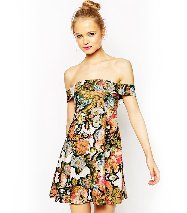 ASOS Bardot Dress in Pretty Floral Print
