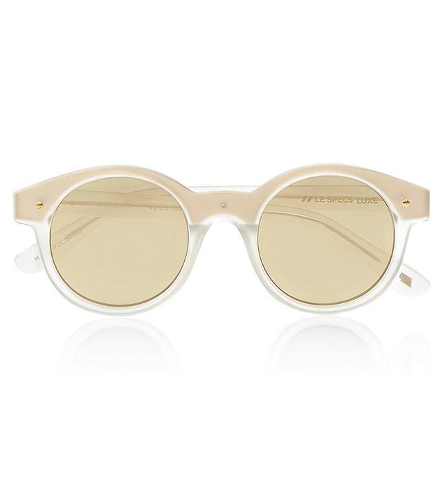 Le Specs Chateau Acetate Round-Frame Sunglasses