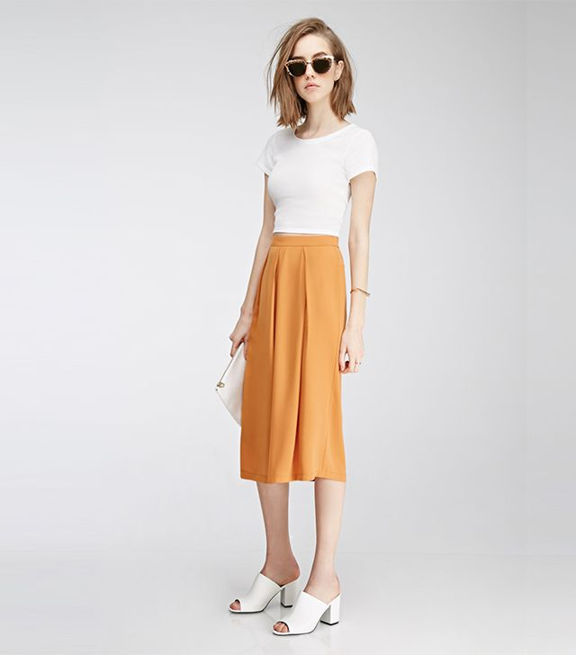 Forever 21 Pleated Gaucho Pants