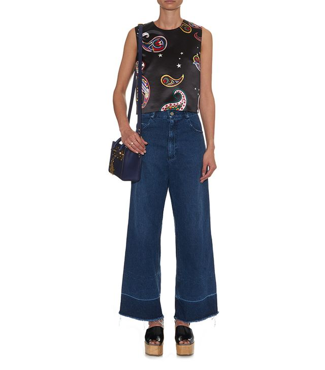 MiH Jeans Jane Paneled Denim Mini Dress