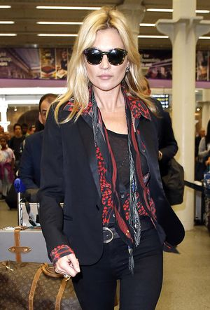 Kate Moss Just Wore the Best Airport Shoes Ever