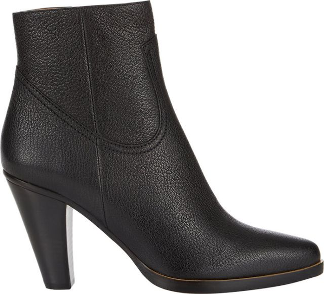 Chloe Stacked-Heel Ankle Boots