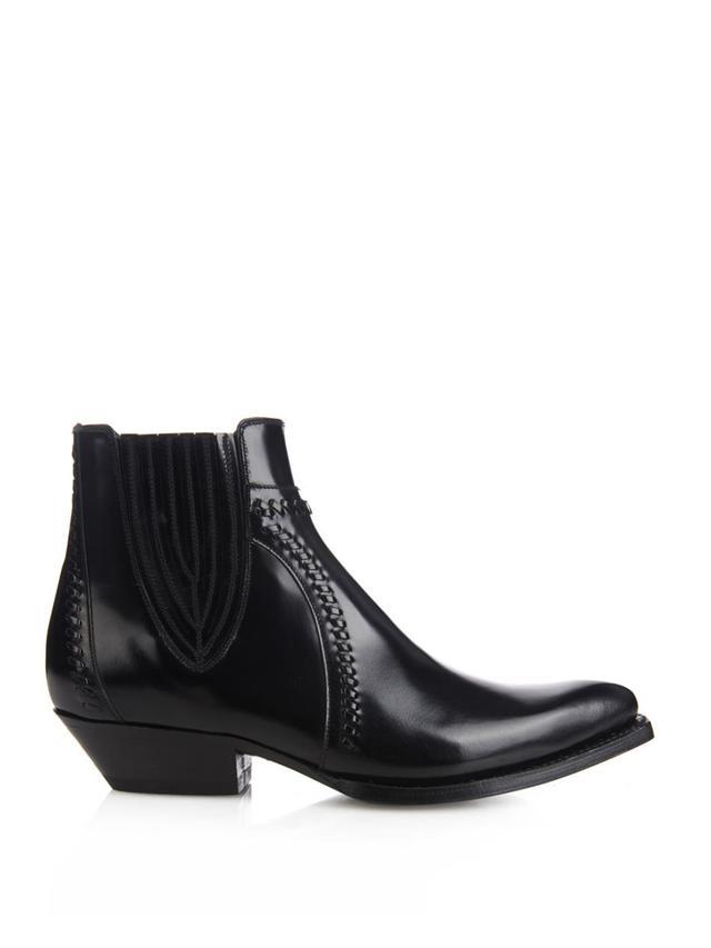 Saint Laurent Santiag Western Ankle Boots
