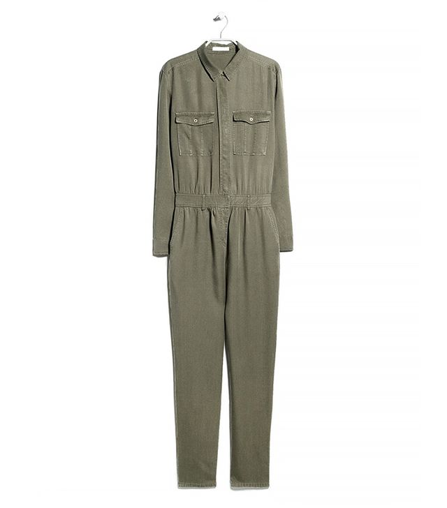 Mango Long-Chest Pocket Jumpsuit