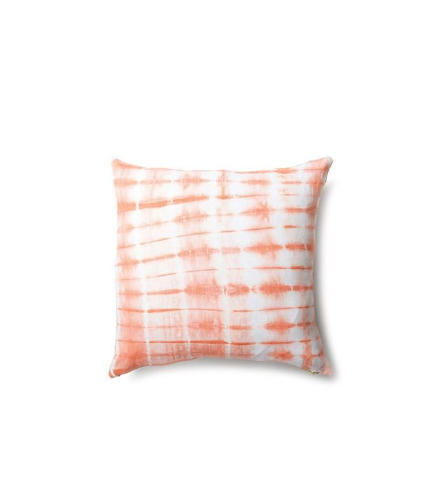Rebecca Atwood Striped Shibori Tangerine Pillow