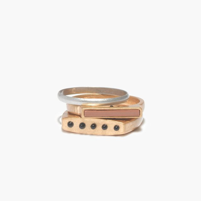 Madewell Molecule Stacking Rings