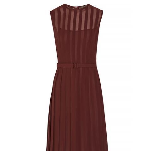 Pleated Silk-Georgette Dress