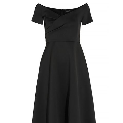 Issla Belted Silk Crepe de Chine Dress