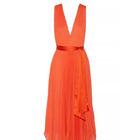 Kip Pleated Chiffon Dress