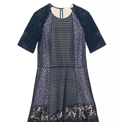 Panelled Broderie-Anglaise Cotton Dress