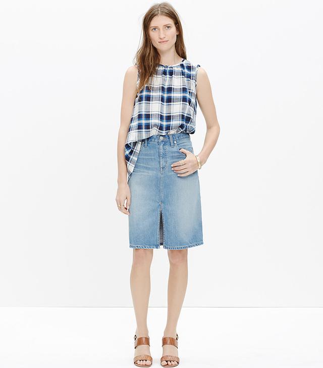 Madewell Denim High-Rise Skirt