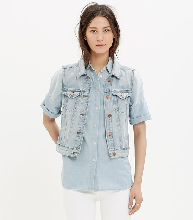 Madewell The Jean Vest in Cora Wash