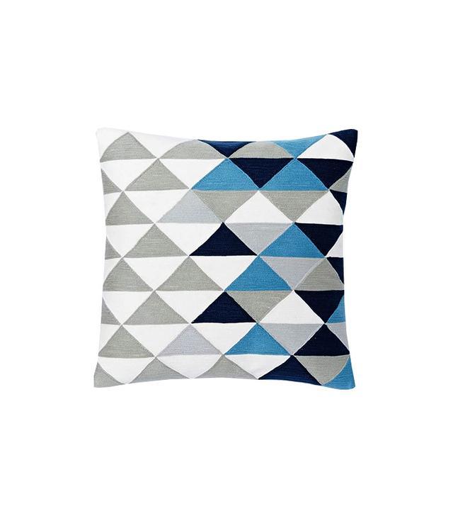 West Elm Optical Triangle Crewel Pillow Cover