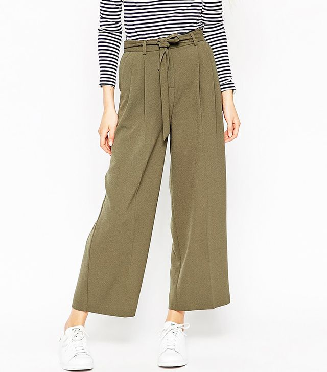 ASOS Culotte Pant with Tie Waist Detail