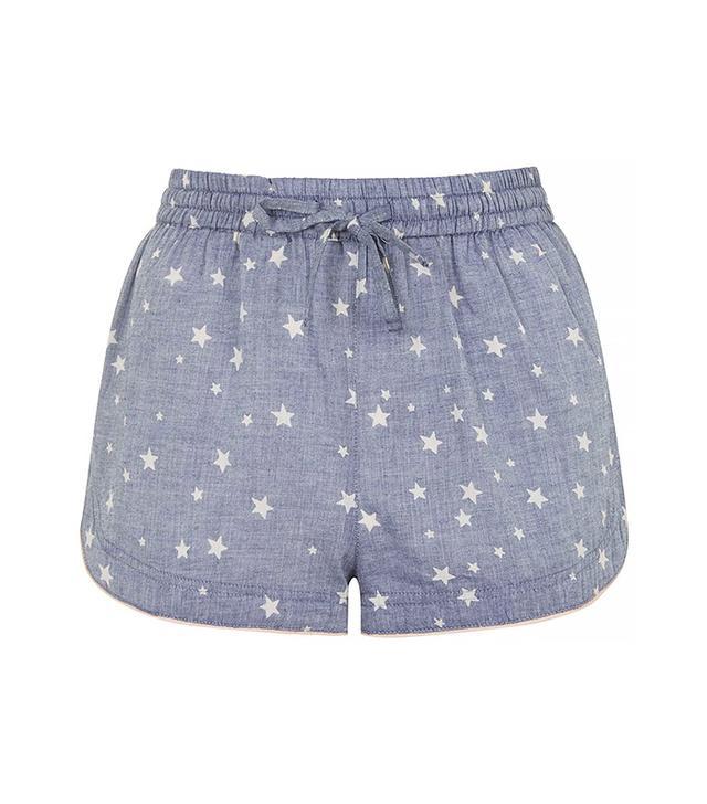 Topshop Star Print Chambray Pajama Shorts