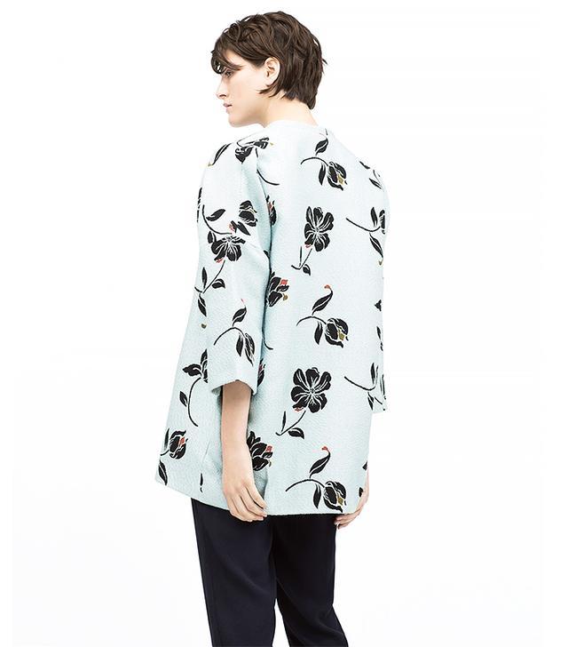 Zara Jacquard Floral Coat