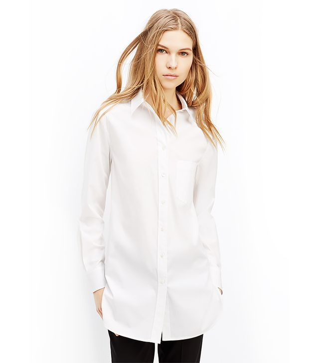Vince Long Sleeve Button Up Tunic