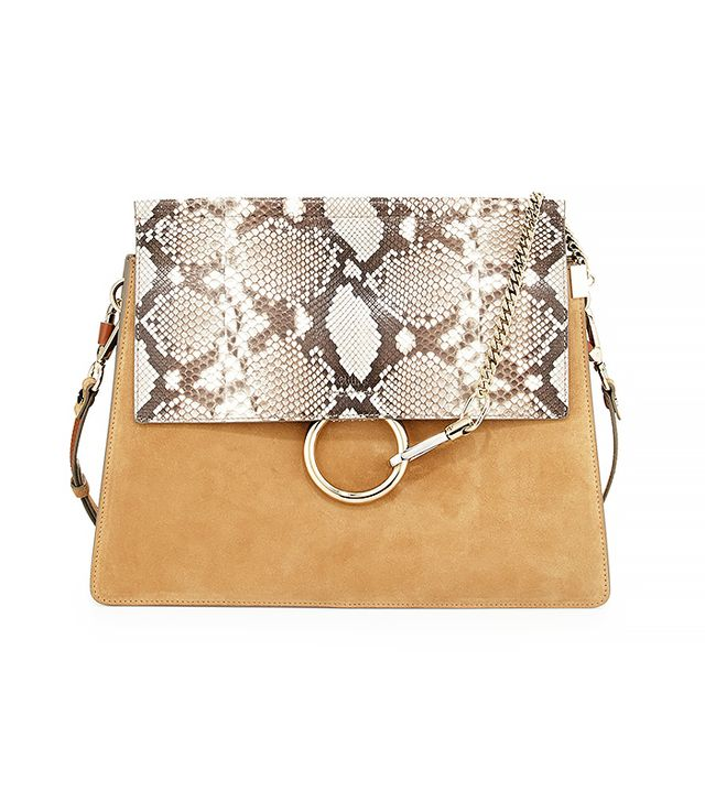Chloé Python Flap Shoulder Bag