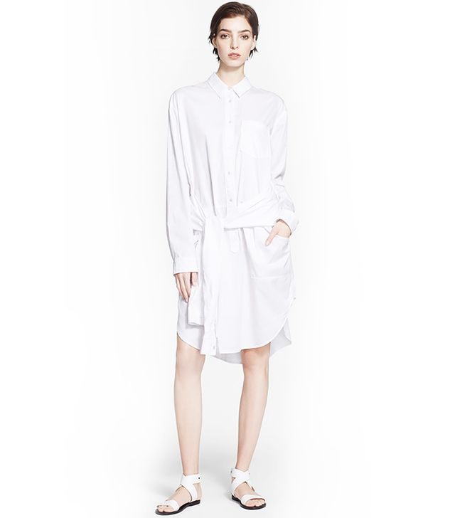 T by Alexander Wang Oversized Cotton Poplin Shirtdress