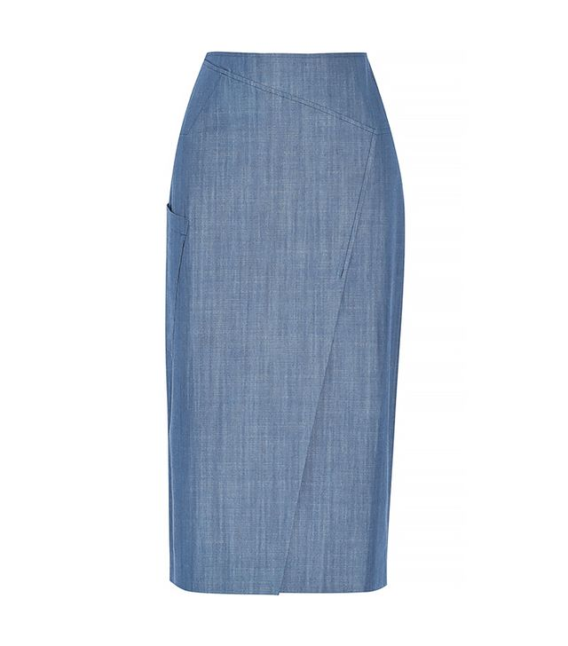 Tibi Denim Midi Skirt