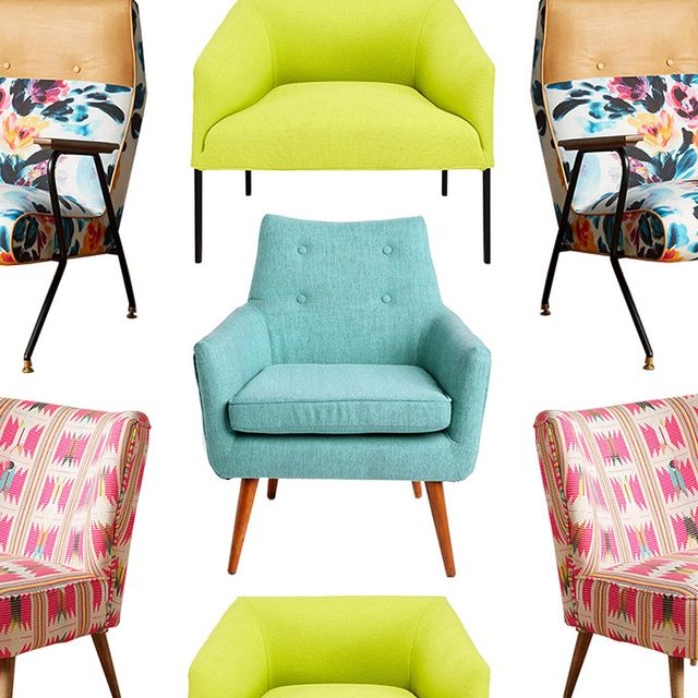 10 Colorful Accent Chairs We're Eyeing