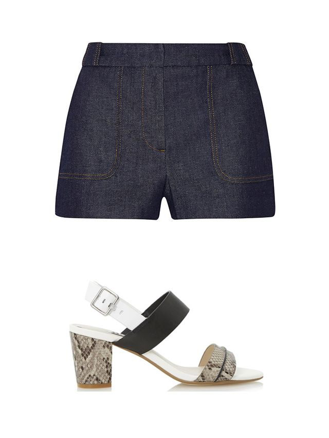 Victoria Beckham Stretch-denim Shorts