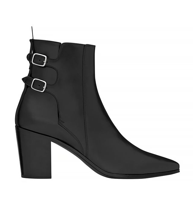 Saint Laurent French 85 Double Buckle Ankle Boot
