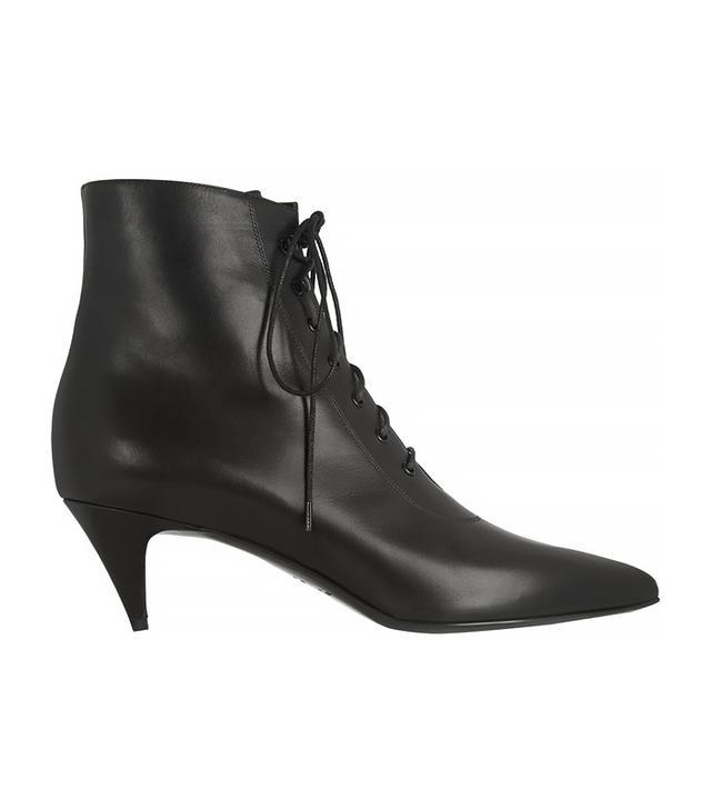 Saint Laurent 50mm Cat Leather Lace-Up Boots