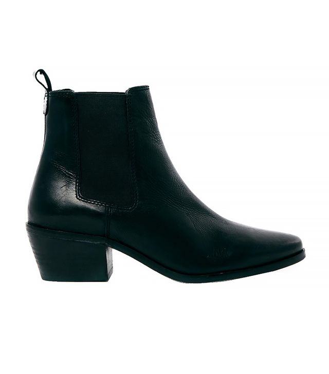 ASOS Dune Peetra Black Pointed Chelsea Boots